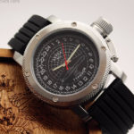 Russian 24-hours watch Submarine Akula (Typhoon) Black 47 mm