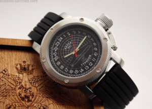 Russian 24-Hour Watch Submarine TYPHOON (Akula) Black 47 mm