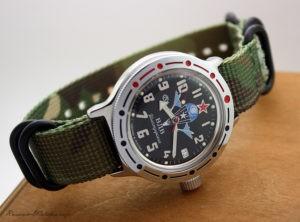 Vostok Amphibian 2416 / 420288 + zulu khaki