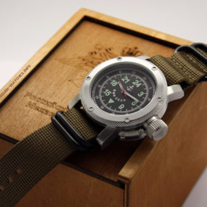 Russian Watch with 24-Hour Dial – Automatic - Russian NAVY khaki 47 mm