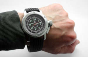 Russian Watch with 24-Hour Dial - Russian NAVY Black 47 mm