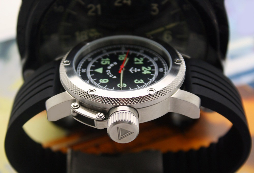 Russian Watch with 24-Hour Dial – Russian NAVY Black 47 mm