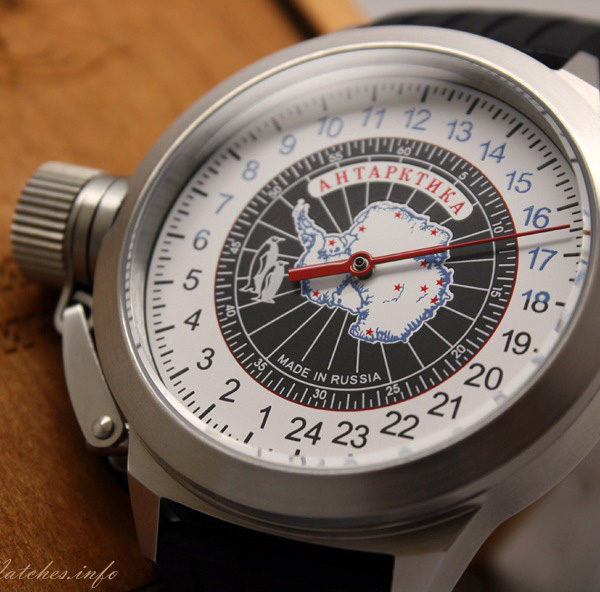 Russian 24-hours automatic watch Antarctic One-Hand 45 mm
