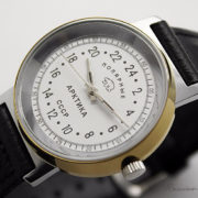Russian 24-hours mechanical watch Raketa ARCTIC Polar Bear (white)
