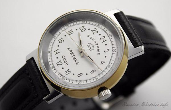 Russian 24-hours mechanical watch Raketa ARCTIC Polar Bear (white)