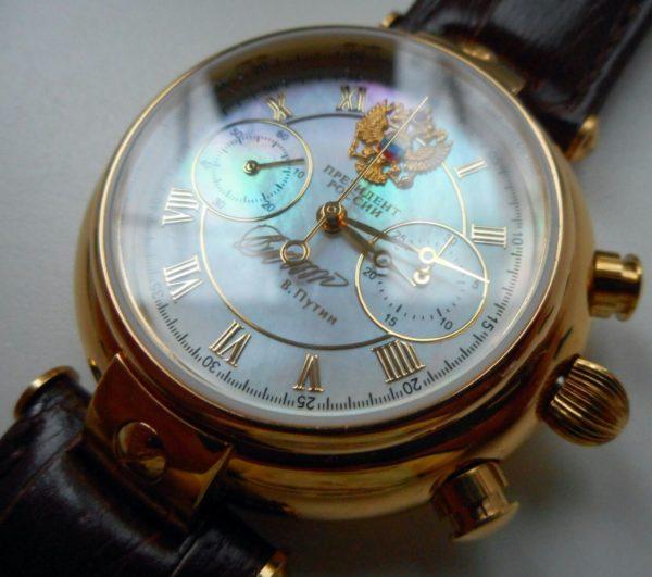 Russian chronograph automatic watch President Putin Poljot 3140