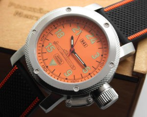 Russian Watch with 24-Hour Dial – Automatic - Submarine TYPHOON (Akula) orange 47 mm