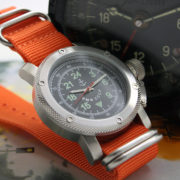 Russian Watch with 24-Hour Dial – Automatic – Russian NAVY orange 47 mm