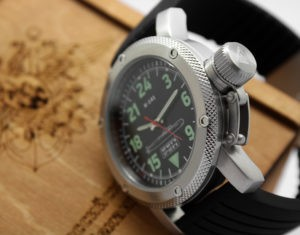 Russian watch with 24-hour dial - Submarine K-141 Kursk 47 mm Black