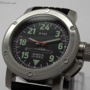 Russian watch with 24-hour dial – Submarine K-141 Kursk 47 mm Black