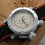 Russian Navy 24-hours automatic watch 47 mm beige