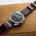 Raketa POLAR BEAR Russian 24-Hour Mechanical Watch (black, luminescent) Zulu
