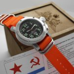 Russian 24 hour watch, Akula Submarine, Automatic Black 47 mm