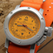 Russian Watch with 24-Hour Dial – Submarine TYPHOON (Akula) Orange Zulu 47 mm