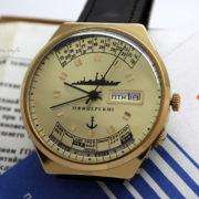 Russian Watch RAKETA 2628 Perpetual Calendar Navy Box & Paper