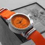 Russian 24-Hour Watch – Submarine Akula Typhoon – Orange – 45 mm