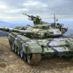 Russian battle tank T-90