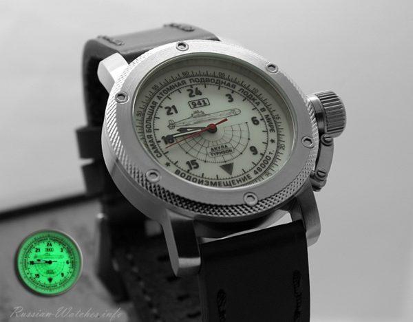 Russian 24 hour watch, Akula Submarine Automatic 47 mm