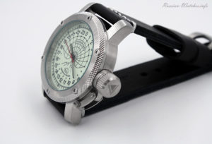Russian 24-hours watch POLAR 47 mm (luminescent)