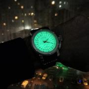 Russian 24-hours watch POLAR 47 mm (luminescent)