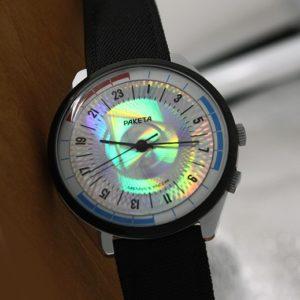 Russian 24-hours watch Raketa Navy Hologram 1993