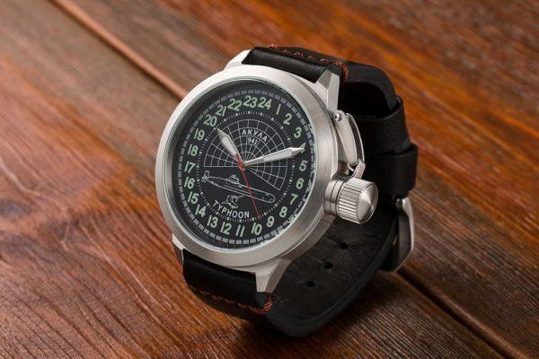 Submarine Akula 52mm - Russian 24-hours mechanical watch