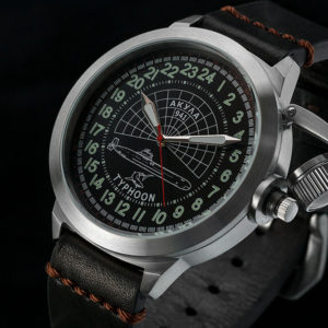 Russian 24 hour watch, Akula Submarine 51 mm