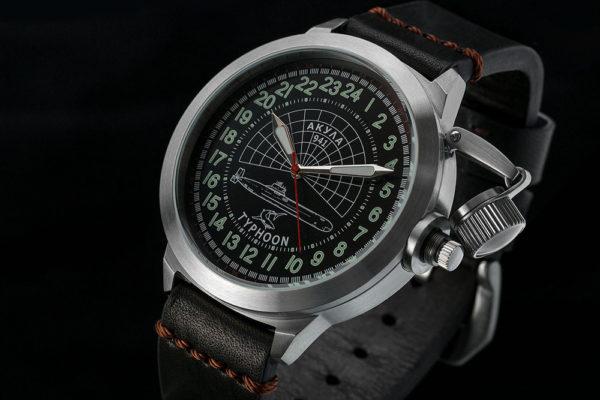 Russian 24 hour watch, Akula Submarine 51 mm