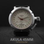 Russian 24 hour watch, Akula Submarine, Luminous 45 mm