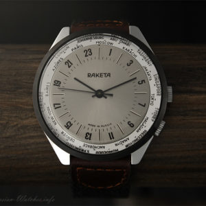 24 hour watch Raketa, World Time, NOS