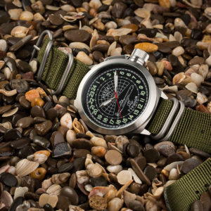 Russian 24 hour watch, Akula Submarine, 51 mm Zulu