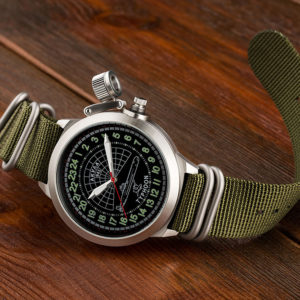 Russian 24 hour watch, Akula Submarine, 51 mm Zulu