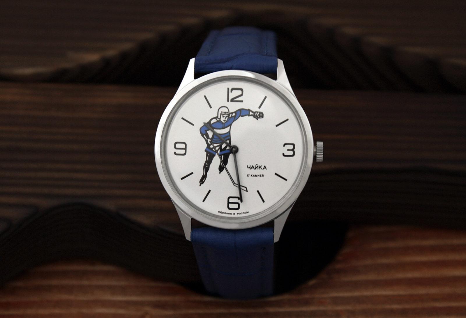 Russian mechanical watch Chaika Hockey 1990s