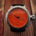 Russian 24h Watch Arctic Camp Barneo 45mm (orange)