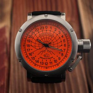 Russian 24 hour watch, Arctic Camp Barneo 45 mm (orange)