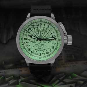 Russian 24 hour watch, Polar Camp Barneo 52 mm (luminous)