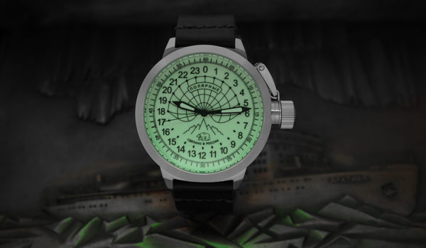 Russian 24h Watch Arctic Camp Barneo Luminous 52mm