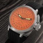 Russian 24 hour watch, Polar Camp Barneo 52 mm (orange)