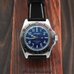 Russian automatic diver watch Vostok Amphibian 2415 / 110648 leather
