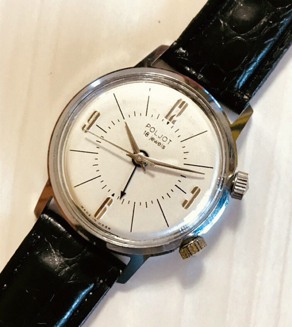 Poljot 2612 alarm watch, USSR 1970s