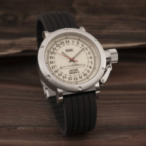 Russian 24 hour watch, Antey Submarine, Luminous 45 mm (rubber)