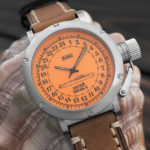 Russian 24 hour watch, Antey Submarine, Orange 45 mm (leather)