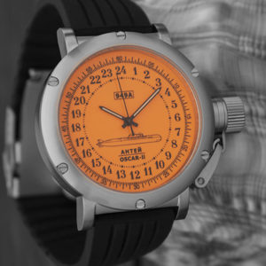 Russian 24 hour watch, Antey Submarine, Orange 45 mm (rubber)