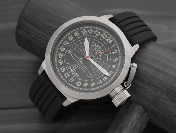Russian 24 hour watch, Akula Submarine 51 mm (rubber)